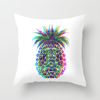 Pineapple CMYK Throw Pillow by Schatzi Brown