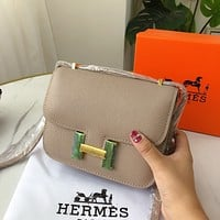 Hermes Constance flight attendant bag shoulder messenger bag