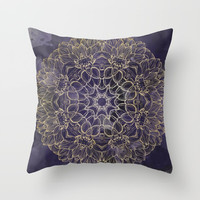 Watercolor Mandala Throw Pillow by All Is One