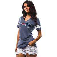 Women's New England Patriots Majestic Navy Field of Play Tri-Blend T-Shirt
