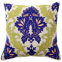 Amalfi Embroidery Blue/Green Pillow Pair