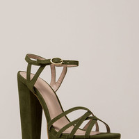 Strappy So Lucky Chunky Platform Heels