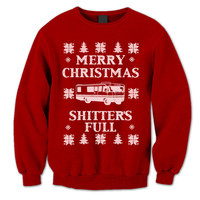 Merry Christmas Sweater. Christmas Vacation Jumper. Shitter's Full Sweatshirt. Ugly Sweater. Sweater Contest. Pullover. Funny Christmas.