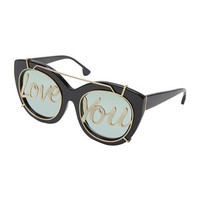 Alice + Olivia Walker Love You Cat-Eye Sunglasses