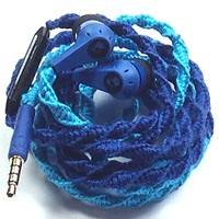 MyBuds Wrapped Tangle-Free Earbuds Blue Belle NEW Genuine Skullcandy Headphones | with Microphone and Volume Control for iPhone | iPod iPad All Smartphones - Custom Wrapped by MyBuds
