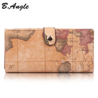 2016 Stars war map message high quality world map Wallet Multifunctional long Design Wallet Zipper Coin Purse Card Holder in PVC