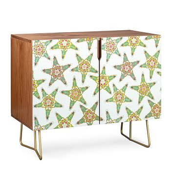 Sharon Turner starfish flowers off white Credenza
