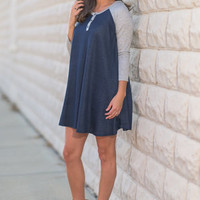 Dreaming Of The Day Dress, Navy