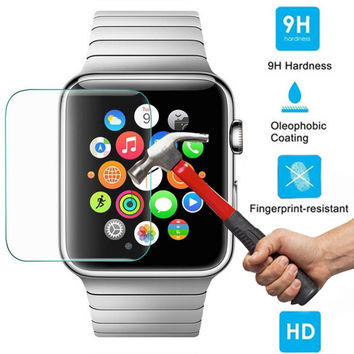 Apple Watch Screen Protector Tempered Glass [Full Screen Coverage] Anti-Bubble