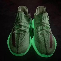 Adidas Yeezy Boost 350 V2 GID Spring Luminous Green Fashion Sneakers - Best Online Sale