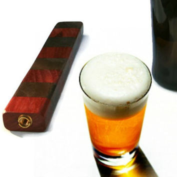 Upcycled Pull Handle - Wood Beer Tap Handle - Padauk and Walnut - Ready to Ship