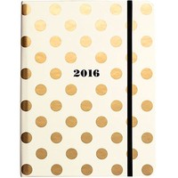 Kate Spade 2016 17-Month Large Agenda Gold Dot - Accessories - Boutique
