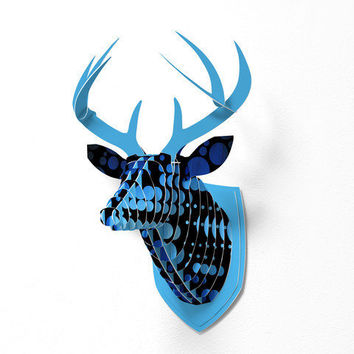 DENY Designs Home Accessories | Madart Inc. Polka Dots Blue Passion Faux Deer Mount