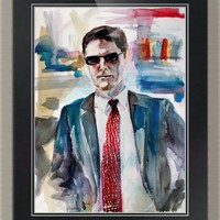 """Aaron Hotchner Criminal Minds Portrait"" by Ginette Callaway"