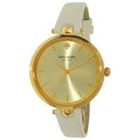 Kate Spade Women's Holland KSW1117 Gold Leather Quartz Fashion Watch