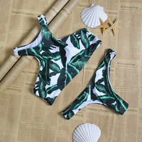 Cute Forest Leaves Bikini Set