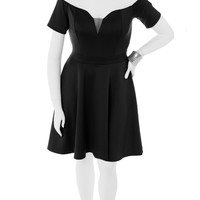Plus Size True Romance Black Skater Dress, Plus Size Clothing, Club Wear, Dresses, Tops, Sexy Trendy Plus Size Women Clothes