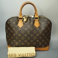 AUTHENTIC LOUIS VUITTON ALMA HANDBAG PURSE MONOGRAM