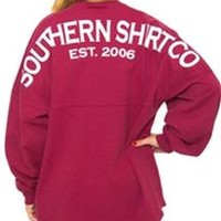 Southern Shirt Company Crew Neck Jersey Pullover in Sangria