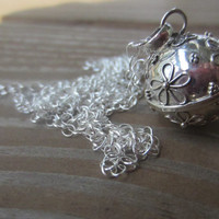 """Harmony Ball Necklace, Flower Bola Necklace, Pregnancy Necklace, Maternity Gift, 18mm and 36"""""""