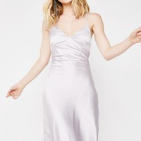 Slipped Away Satin Dress