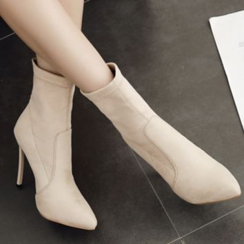 Winter hot style hot selling pointed super high heels