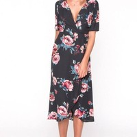 The Palm Desert Wrap Dress by EVERLY
