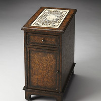 Butler Specialty Corsica Etched Fossil Stone Chairside Chest - 3326070