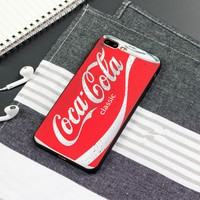 """""""Coca Cola"""" Letter Personality Unisex iPhoneX/8/6S Silica Gel Soft Shell iPhone7 Plus Couple Apple Phone Case"""