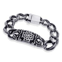 Great Deal Hot Sale Gift Shiny Stylish Awesome New Arrival Accessory Cross Rack Strong Character Vintage Fashion Titanium Bracelet [6542706627]