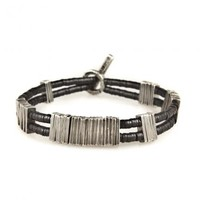 BARCODE WIDE BLACK BRACELET - M Cohen - Jewelry Homme Luxe   Madlords