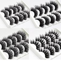 NEW 13 Styles 1/3/5/6 pair Mink Hair False Eyelashes Natural/Thick Long Eye Lashes Wispy Makeup Beauty Extension Tools Wimpers