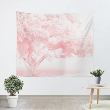 Pink Frost Tapestry