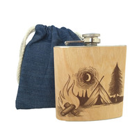 Heritage Wood Flasks By Spitfire Girl