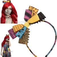 Licensed cool Disney The Nightmare Before Christmas Sally Hair Bow Headband Costume Cosplay
