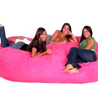 Cozy Sack 8-Feet Bean Bag Chair, X-Large, Hot Pink