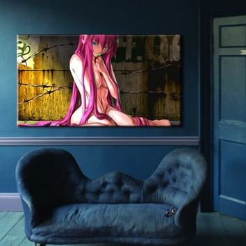 """Box Framed Canvas Print Artwork Stretched Gallery Wrapped Wall Art Painting Hanging Original Decorative Modern Home & Living Decor Anime Comics Girl Sexy Nude Manga Like Painting Large Size 26x46"""" (Canm10)"""