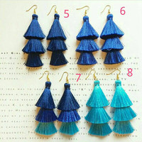 Neon Tassel Earrings for  Summer Colorful accessories Gift