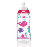 NUK Sea Creature Orthodontic 10 Ounce Bottle with Medium Flow Silicone Nipple - Under the Sea Girl