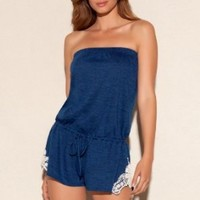 Lucky Brand Women's My Tribe Romper Swim Cover Up