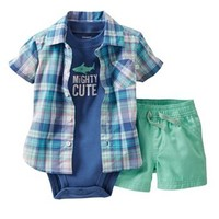Carter's Mighty Cute Plaid Shirt Set - Baby