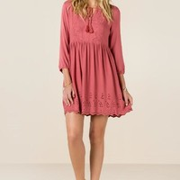 Clemente embroidered dress
