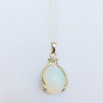 Palm Reader Necklace- Opalite