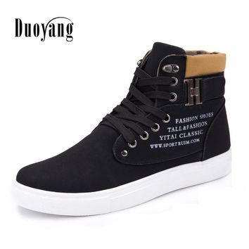 PU Ankle boots warm men boots winter shoes 2018 new arrivals fashion snow ankle boot shoes