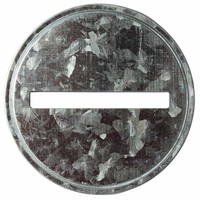 Coin Slot Bank Galvanized Metal Lid Inserts for Mason, Ball, Canning Jars (10 Pack, Wide Mouth)