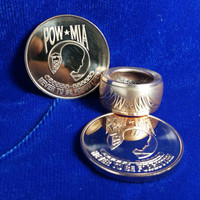 POW/MIA Ring - Hand Forged .999 Pure Copper Coin Ring