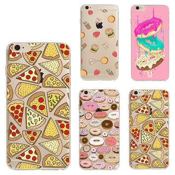 Pizza Soft Silicon For Coque iPhone 7 5 from Dream Girl