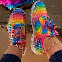 2020 New Products Women's Color Large Size Lightweight Trendy Running Shoes