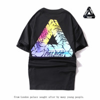 Stylish Casual Palace Fashion Cotton Tee Round-neck Short Sleeve T-shirts