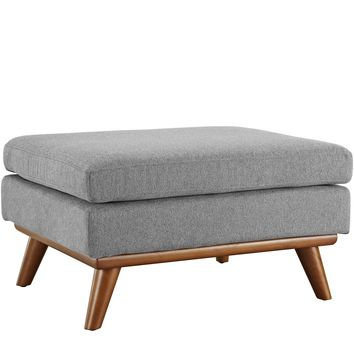 Engage Upholstered Fabric Ottoman Expectation Gray EEI-1797-GRY